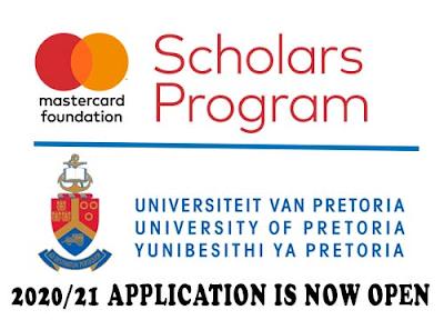 SCHOLARSHIP!  University Of Pretoria MasterCard Foundation Scholarship Program (MCFSP) 2018 (Fully Funded)
