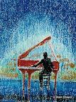 069 - Le Pianiste - 1996   24 x 30 - Pastel sur carton