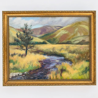 Townsend Signed Landscape Painting