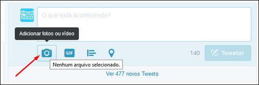 Como publicar fotos ou gifs animados no twitter pela Web - Visual Dicas