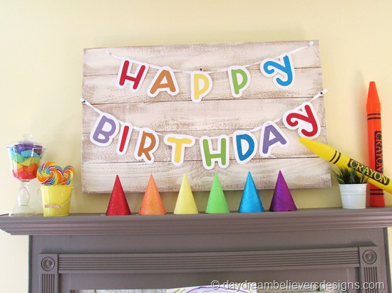 DIY Art Party at Home - Birthday Mantle