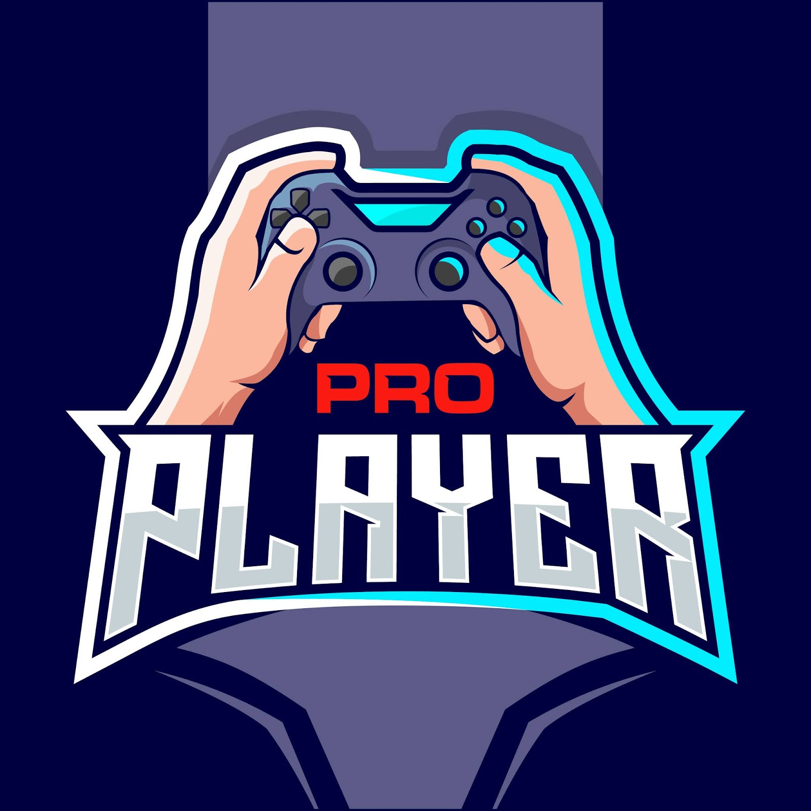 Pro Player Esport Game Funny Free Download Vector CDR, AI, EPS and PNG Formats