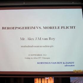 Lezing- en debatactiviteit: Beroepsgeheim vs. morele plicht (18 september)2012