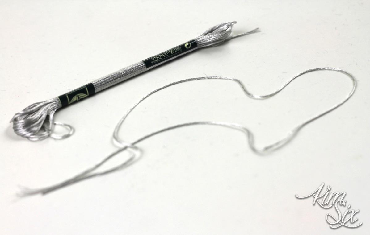 Embroidery Floss metallic tassel
