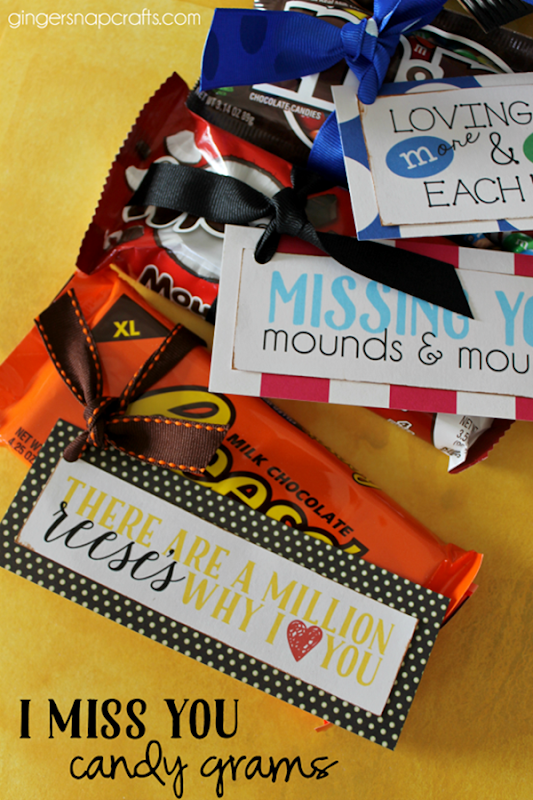 I miss you candy grams at GingerSnapCrafts.com