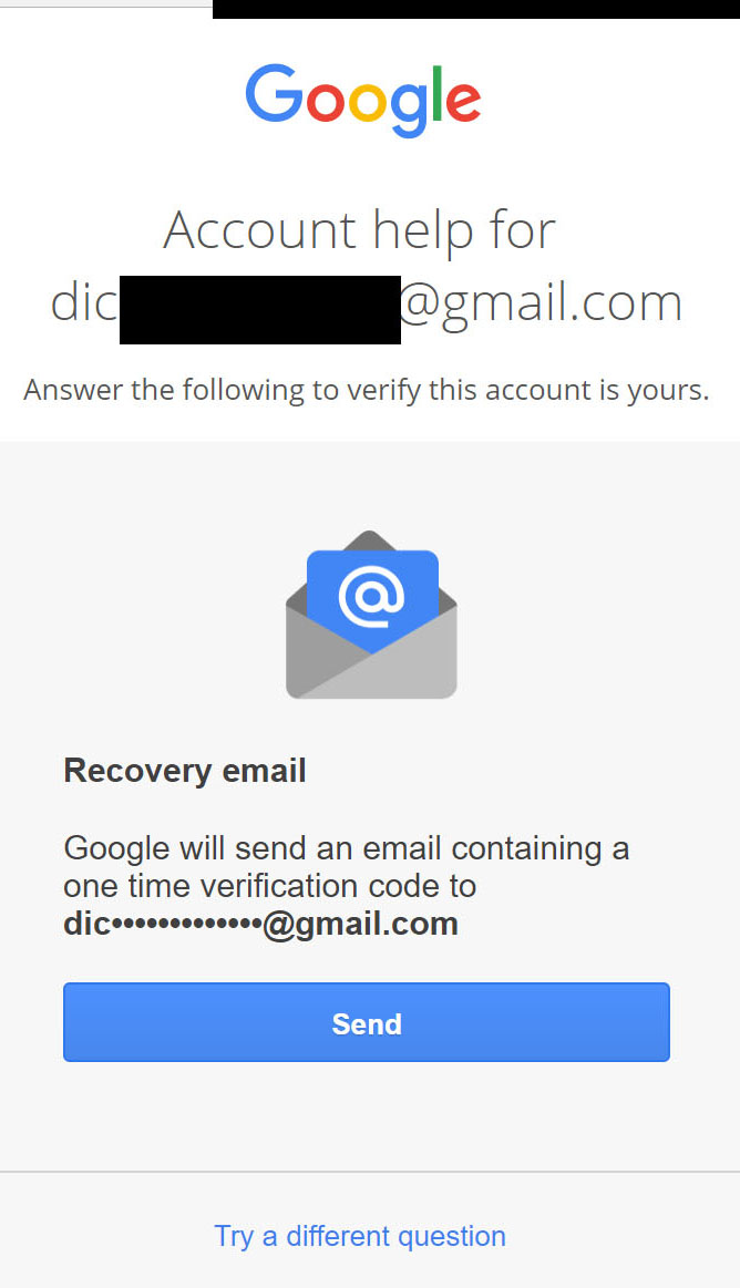 Cannot recover pass of @google com,which I forgot :the infinite loop