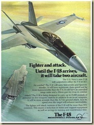 Early F-18 ad (19 April 1976)