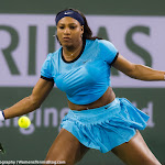 INDIAN WELLS, UNITED STATES - MARCH 18 : Serena Williams in action at the 2016 BNP Paribas Open