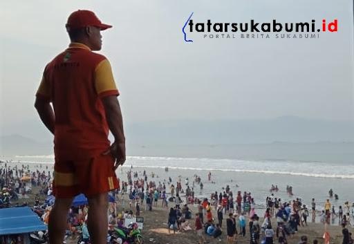 3 Wisatawan Bogor Terseret Arus Pantai Selatan Palabuhanratu