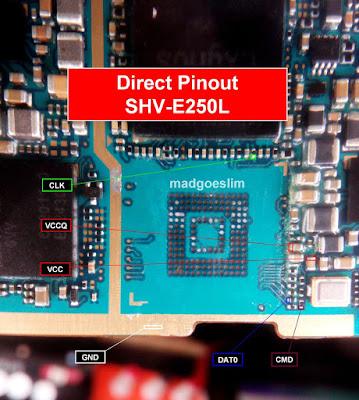 ISP PinOut Samsung SHV-E250L