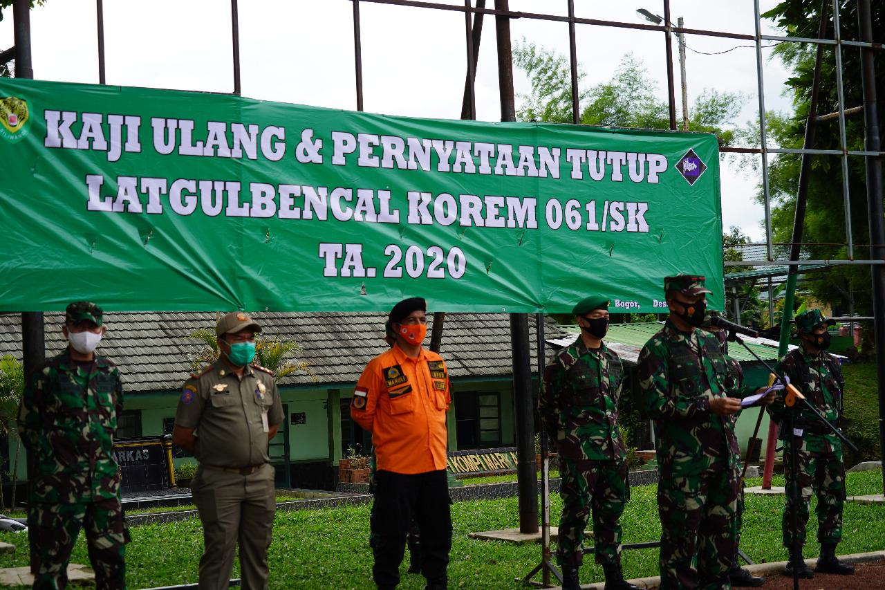 Danrem 061/SK Resmi Tutup Latihan Penanggulangan Bencana Alam Tahun 2020