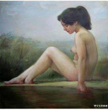 Body art in the river Korean Art World  Chinese
