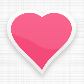 Corazón de color rosa