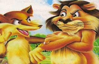 La zorra que nunca había visto un león
