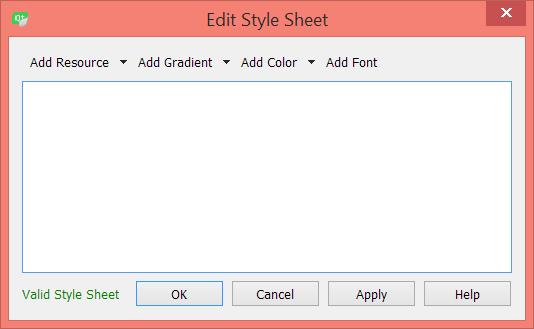 Editar hoja de estilos Qt