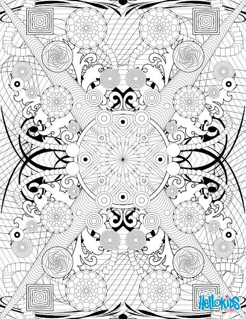 Rosette Intricate Patterns Worksheet Color Online Print