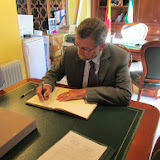 Visita del Presidente del Parlamento Andaluz con motivo de las inundaciones.