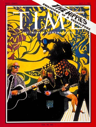 "The cover of Time Magazine on July 7, 1967.  ""The Hippies: Philosophy of a Subculture."""