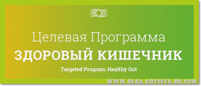 Целевая программа: Здоровый кишечник