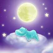 Hippo and the Moon Wallpaper