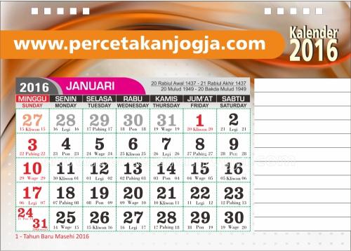 kalender meja 2016