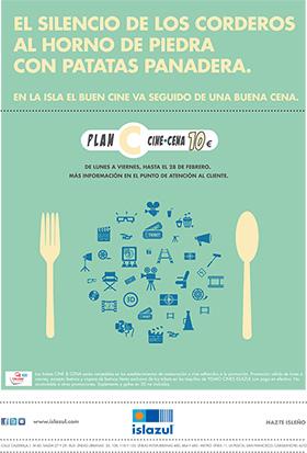 'Plan C: cine + cena 10 euros' en el Centro Comercial Islazul
