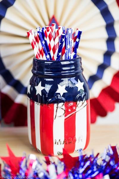 American Flag Mason Jar  Michaels  Linda Braden