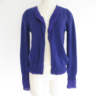 Bottega Veneta Purple Cashmere Cardigan