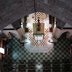 El altar mayor visto desde la cúpula