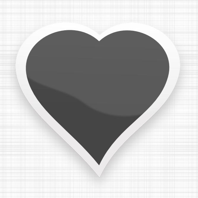 Corazón de color negro