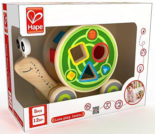 Xe kéo đồ chơi hình ốc sên Hape E0349