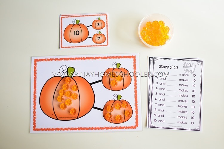 Pumpkin Number Bond learning pack