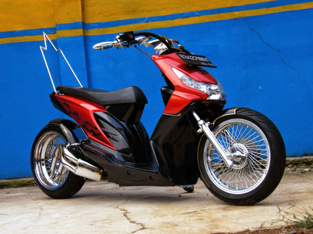 Foto Modifikasi Honda Beat Ring 17