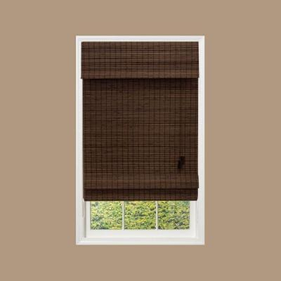 brown bamboo roman shades