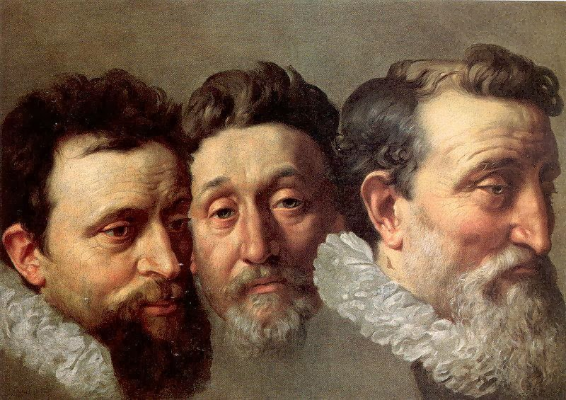 Frans Pourbus the Younger - Head Studies of Three French Magistrates