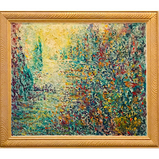 Neo-Impressionist Signed Oil Painting