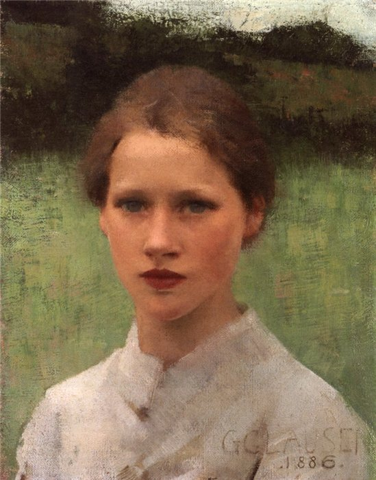 Sir George Clausen - A Village Maiden