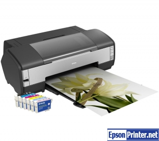 Reset Epson 1400 lazer printer by application