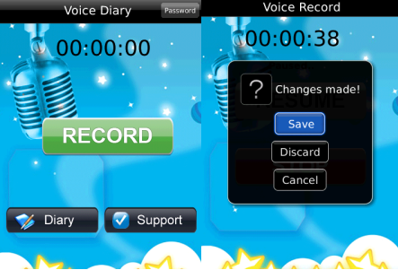 Voice dairy for BlackBerry