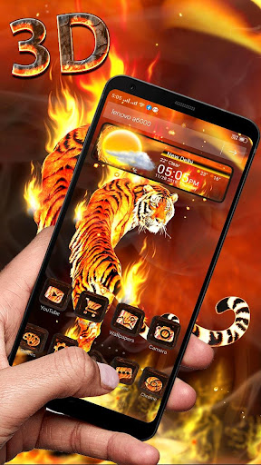 Download Fire Lion 3D Glass Tech Theme ud83dudd25ud83dudc06 1.1.1 1
