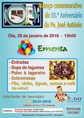 Almoco Aniv Pe J. Antonio - 28JAN18