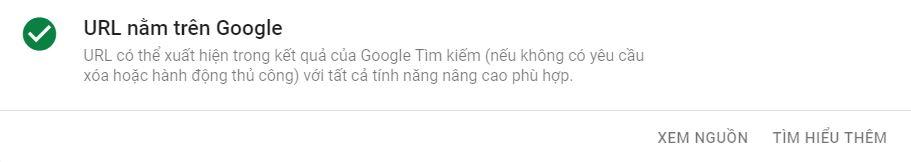 URL nằm trên Google