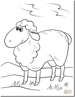 00 - ovejas para colorear (5)