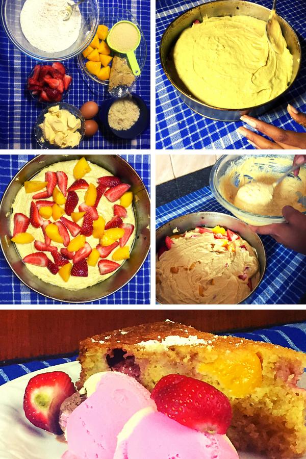 Homemade fruit cake dessert
