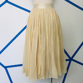 See by Chloé Ruched Ivory Skirt