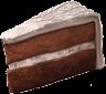 Una fetta di torta nuziale