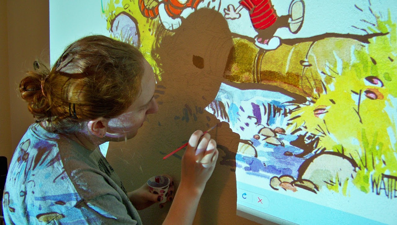 Creating a mural for the nursery -- Calvin & Hobbes! (EDIT ...
