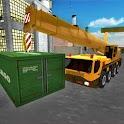 Construction Site Crane Sim 3D icon