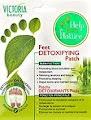 Doi plasturi detoxifiere ieftini alb cu verde eliminare toxine pentru picioare puncte de acupunctura cu bambus si turmalina