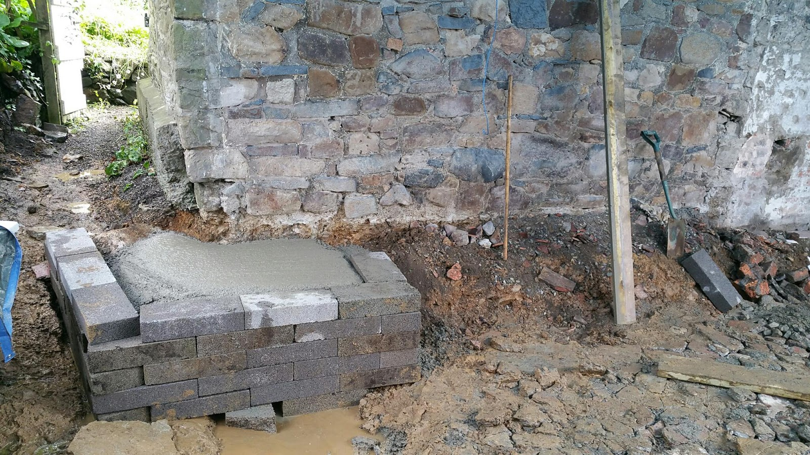 Renovating An Old Stone Cottage Building The Extension Slab